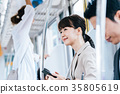 Business Woman Train photography cooperation-Keio Electric Railway Co., Ltd. 35805619