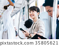 Business Woman Train photography cooperation-Keio Electric Railway Co., Ltd. 35805621