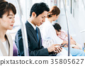 商务男子火车摄影合作 - 京王电铁有限公司 35805627