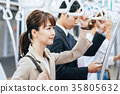 商务女子火车摄影合作 - 京王电铁有限公司 35805632