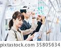 商务女子火车摄影合作 - 京王电铁有限公司 35805634