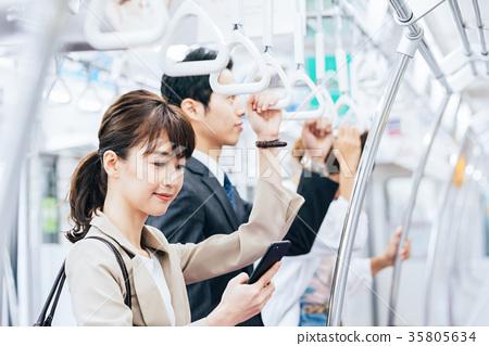 商務女子火車攝影合作 - 京王電鐵有限公司 35805634