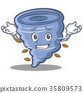 Grinning tornado character cartoon style 35809573