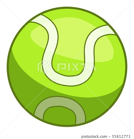 Tennis ball icon, cartoon style 35812771