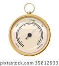 Metal framed hygrometer icon, cartoon style 35812933