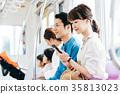 젊은 여성 전철 촬영 협조 · 게이오 전철 주식 회 35813023