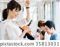 年輕女性火車攝影合作·京王電鐵有限公司 35813031