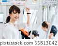 年輕女性火車攝影合作·京王電鐵有限公司 35813042