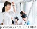 年轻女性火车摄影合作·京王电铁有限公司 35813044