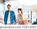 젊은 남녀 전철 촬영 협조 · 게이오 전철 주식 회 35813062