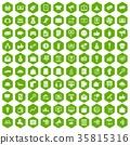 六角形 100 營銷 35815316