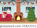 night christmas party room decorated background 35822551