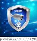 CCTV Security camera and shield protect and safety 35823796