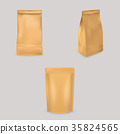 A set of vector illustrations of brown paper bags 35824565