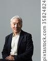 노인, 정장, 한국인 35824824