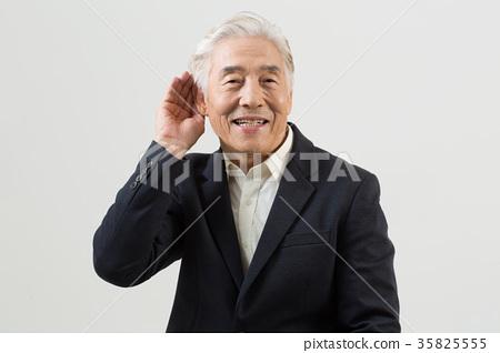 Portrait of healthy elderly 35825555