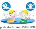 어린이 수영 스쿨 이미지 35826098
