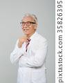 의사, 건강한 노의사의 포트레이트 35826395