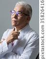 의사, 건강한 노의사의 포트레이트 35826416