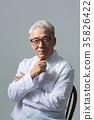 의사, 건강한 노의사의 포트레이트 35826422