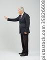노인, 정장, 한국인 35826608
