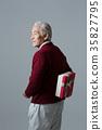 노인, 한국인, 남자 35827795
