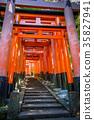 Fushimi Inari Taisha torii, Kyoto, Japan 35827941
