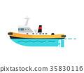 汽船 船 向量 35830116