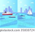 Vessels for Cruise and Urban Coast with Boats 35830724