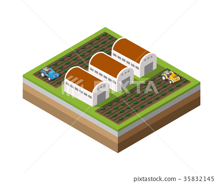 Farm Isometric dimensional 35832145