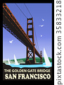 The golden gate bridge, San Francisco 35833218