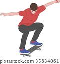 skateboarder illustration 35834061