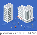 Set of urban houses 35834745