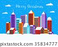 Christmas winter landscape 35834777
