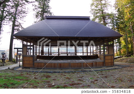 "Shinshu Higashi-Chikuma-gun Mako village's cultural property Shinmei's ""stage"" National Important Cultural Property Designation Large-scale setting of six floors double floor 35834818"