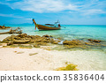 Koh Bamboo island bay, longtail, Thailand 35836404
