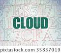 Cloud technology concept: Cloud on Digital Data 35837019