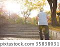 가을, 달리기, 공원 35838031