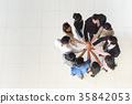 top view of business multi-ethnic partner teamwork 35842053