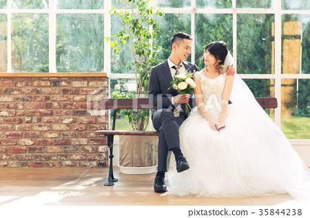 포토 웨딩 결혼 신랑 신부 35844238