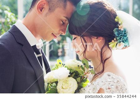 照片婚禮婚姻新娘和新郎 35844244