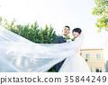 照片婚禮婚姻新娘和新郎 35844249