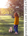 girl and dog 35845147