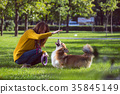 girl and dog 35845149