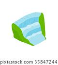 Iguassu Falls icon, isometric 3d style 35847244