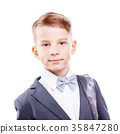 Serious young male student of primary school 35847280