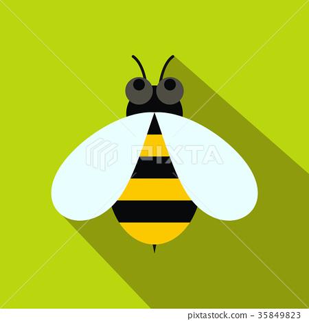 Honey bee icon, flat style 35849823
