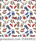 Winter season doodle clothes seamless pattern 35849932