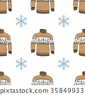 Winter season doodle clothes seamless pattern 35849933