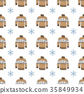 Winter season doodle clothes seamless pattern 35849934